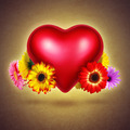 Flowery Heart - PhotoDune Item for Sale