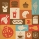 Retro Food Icons - GraphicRiver Item for Sale