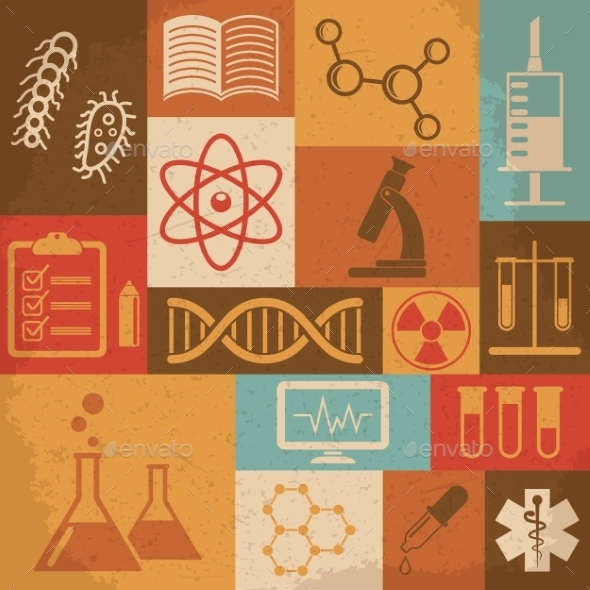 GraphicRiver Retro Science Icons 10223110