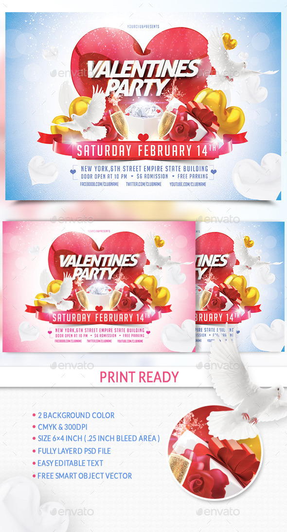 GraphicRiver Valentine Party 10107021