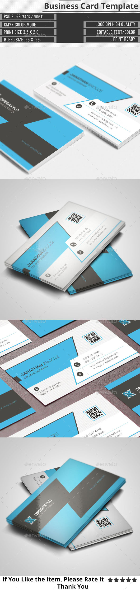 GraphicRiver Elegant Corporate Business Card 10223215