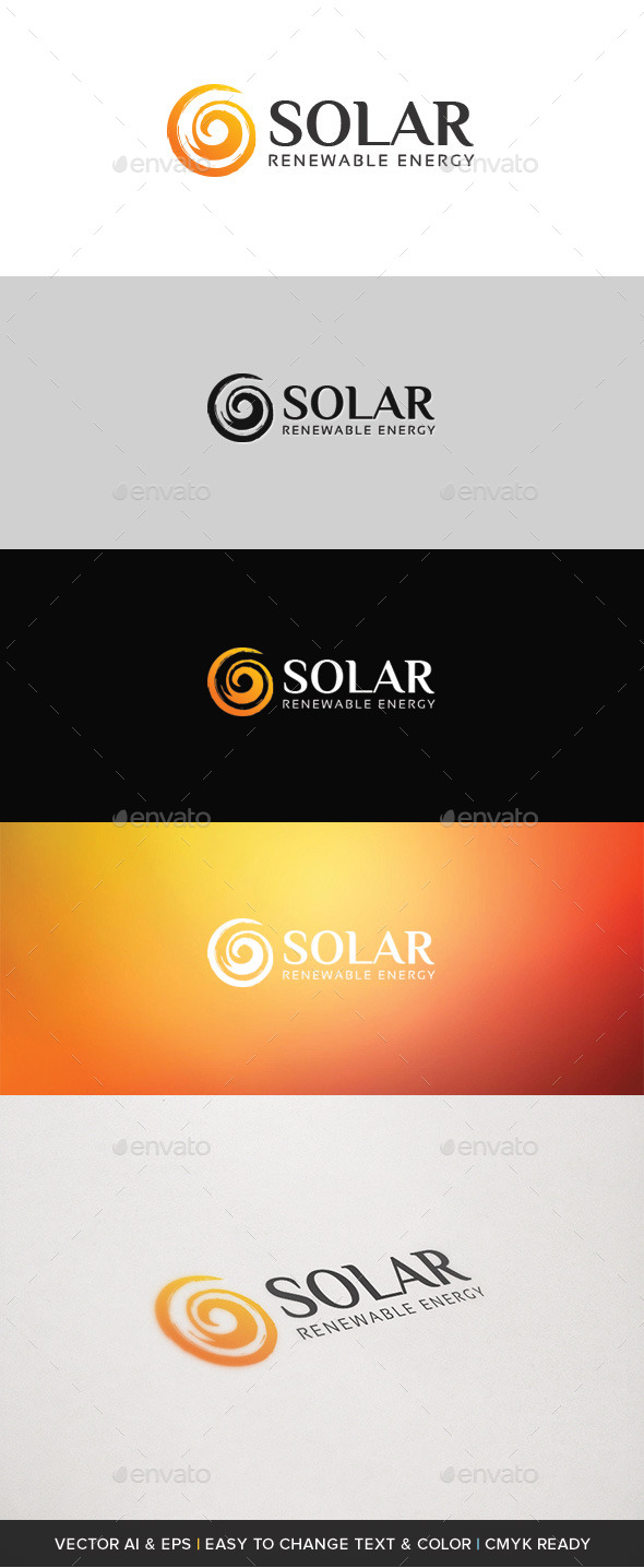 GraphicRiver Solar Energy Logo 10223514