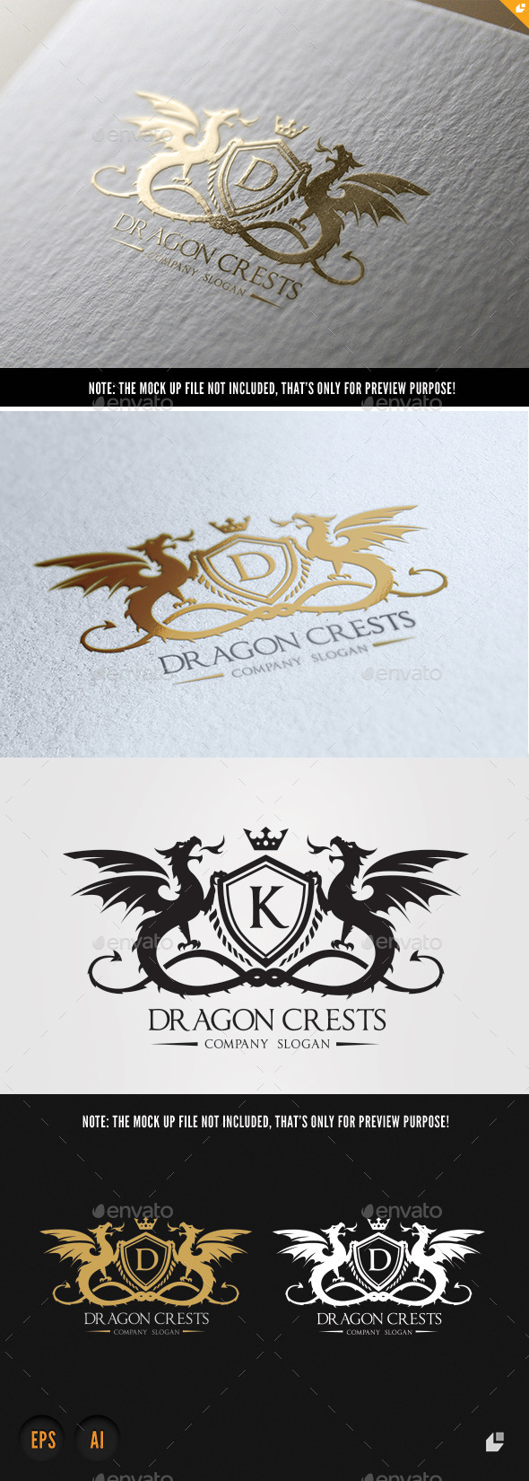 GraphicRiver Dragon Crests 10223657