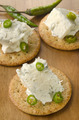 cracker with gorgonzola and green chili - PhotoDune Item for Sale