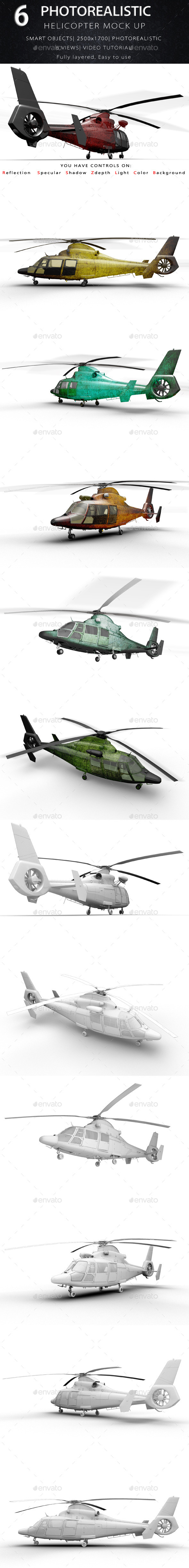 GraphicRiver Helicopter Mock Ups 10223795