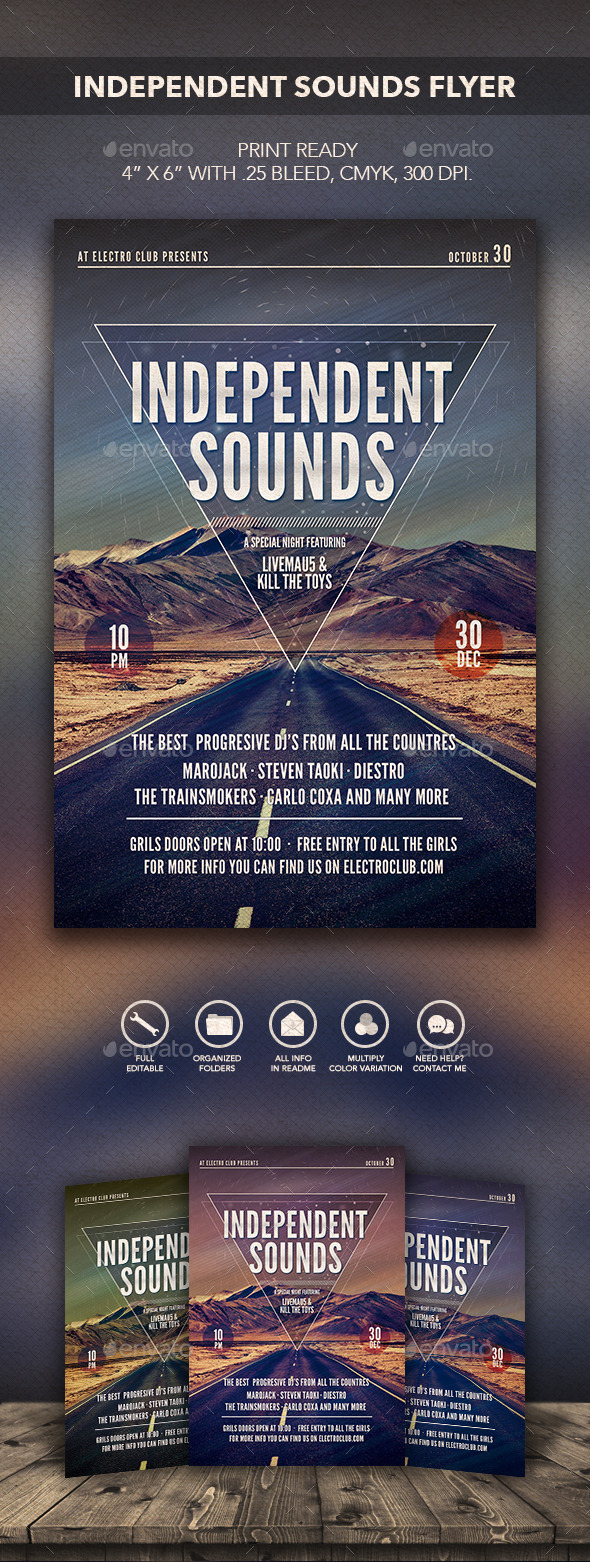 GraphicRiver Independent Sounds Flyer 2 10223807