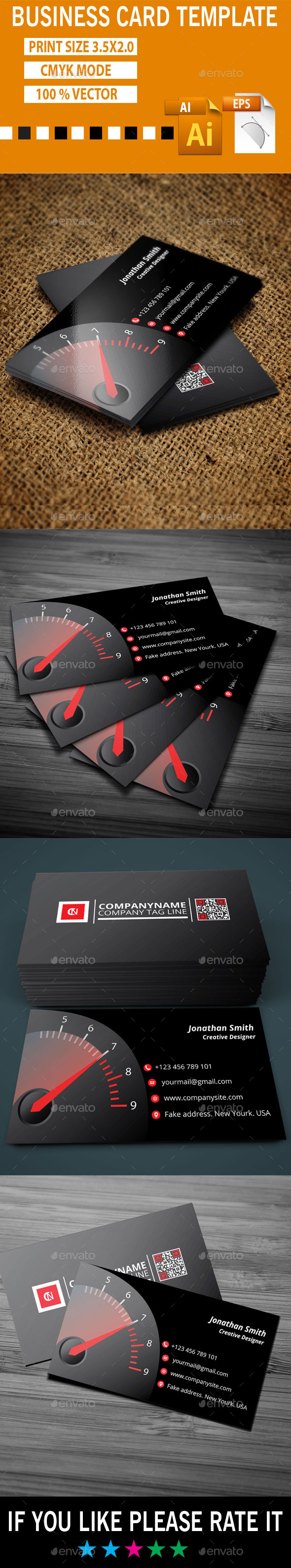 GraphicRiver Clock Business Card Template 10174402