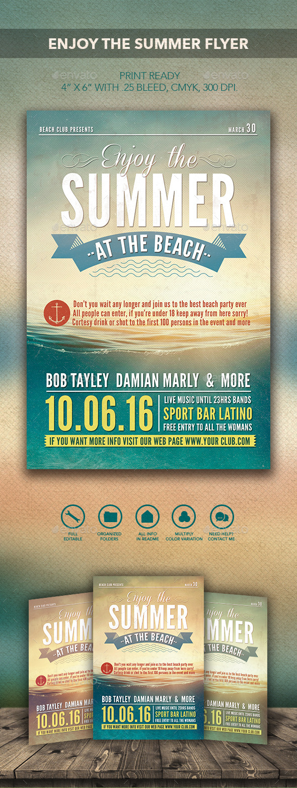 GraphicRiver Enjoy the Summer Flyer 10223898