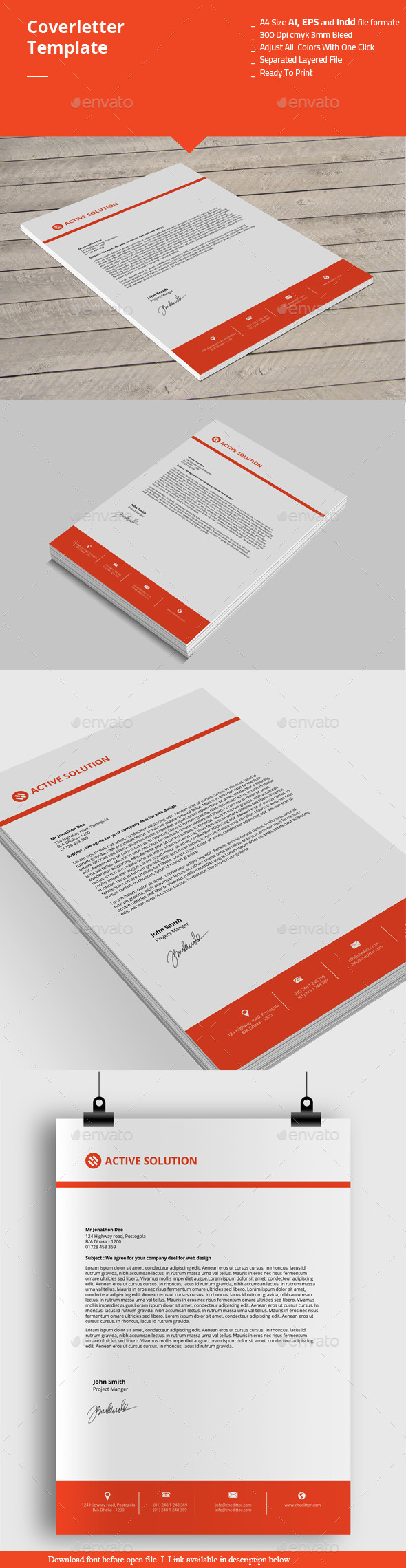GraphicRiver Coverletter Templates 10223974