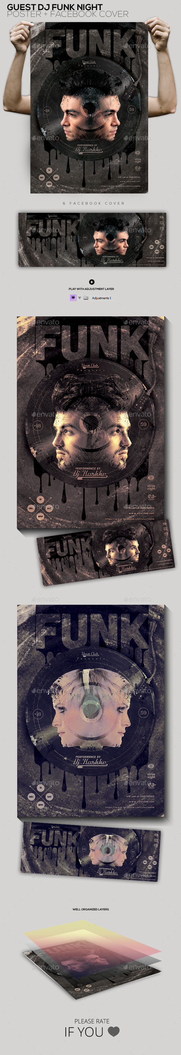 GraphicRiver Funk Guest Dj Party Flyer Poster Facebook Cover 10176473