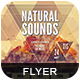 Natural Sounds Flyer - GraphicRiver Item for Sale