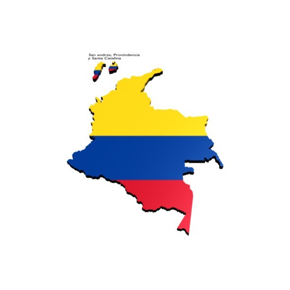 3DOcean colombia map 10224347