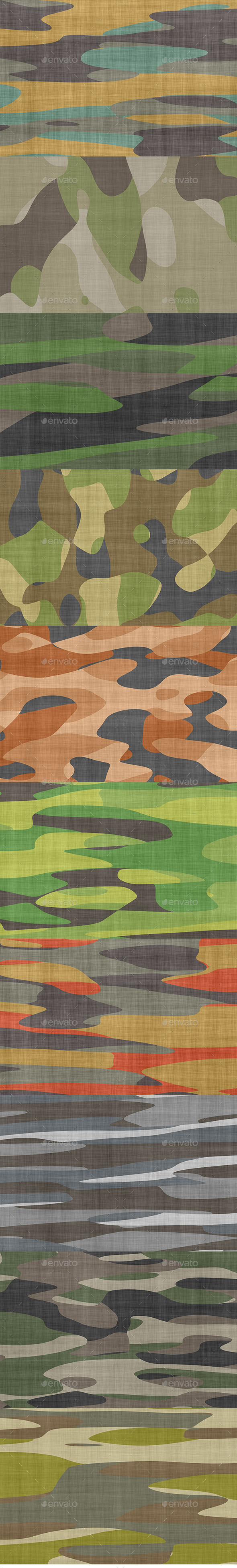 GraphicRiver Camouflage Backgrounds 10224434