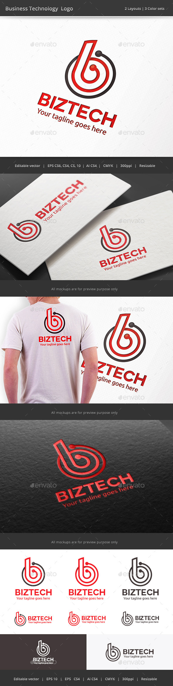 GraphicRiver Business Technology Letter B Logo 10224467