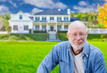 Senior Adult Man in Front of Beautiful House. - PhotoDune Item for Sale