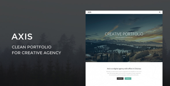ThemeForest Axis Portfolio Template for Creative Agency 9924136
