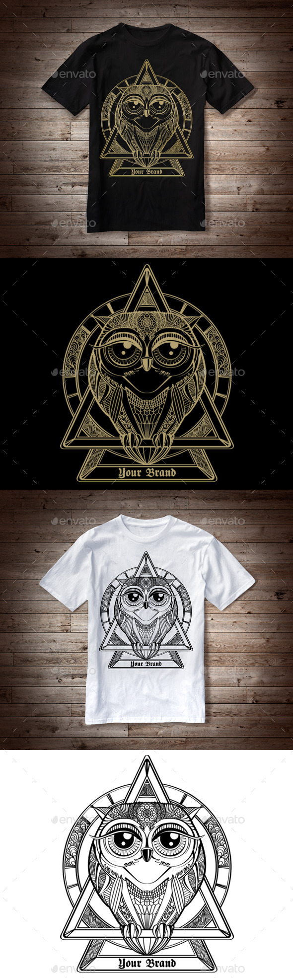 GraphicRiver T-Shirt Illustration Owl Theme 10143443