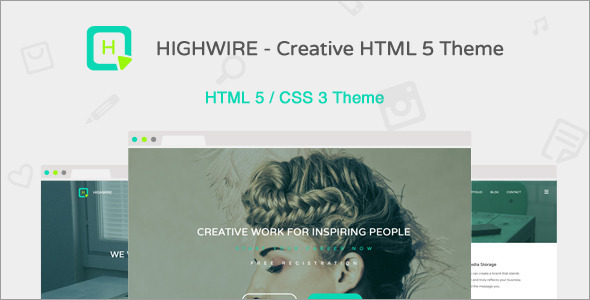 ThemeForest Highwire HTML5 Responsive Business Template 10225009