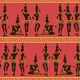 Seamless Pattern of African Girls