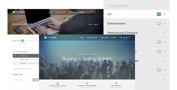 TicketBox Event Tickets Management PSD