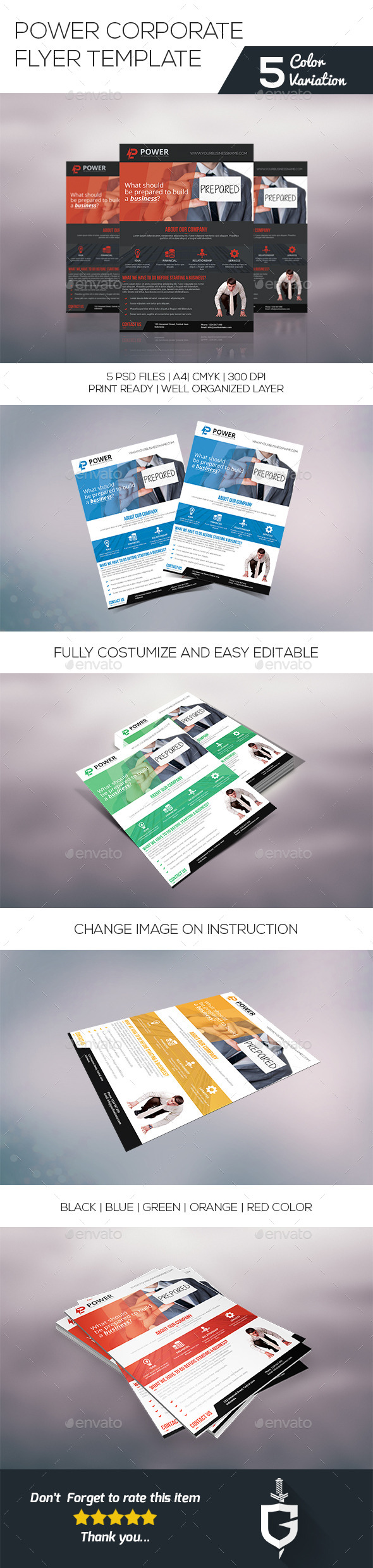 GraphicRiver Power Corporate Flyer Template 10159669