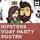 Hipsters Valentine's Day Party Flyer / Poster - GraphicRiver Item for Sale
