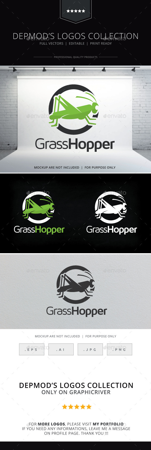 GraphicRiver Grasshopper Logo 10225711