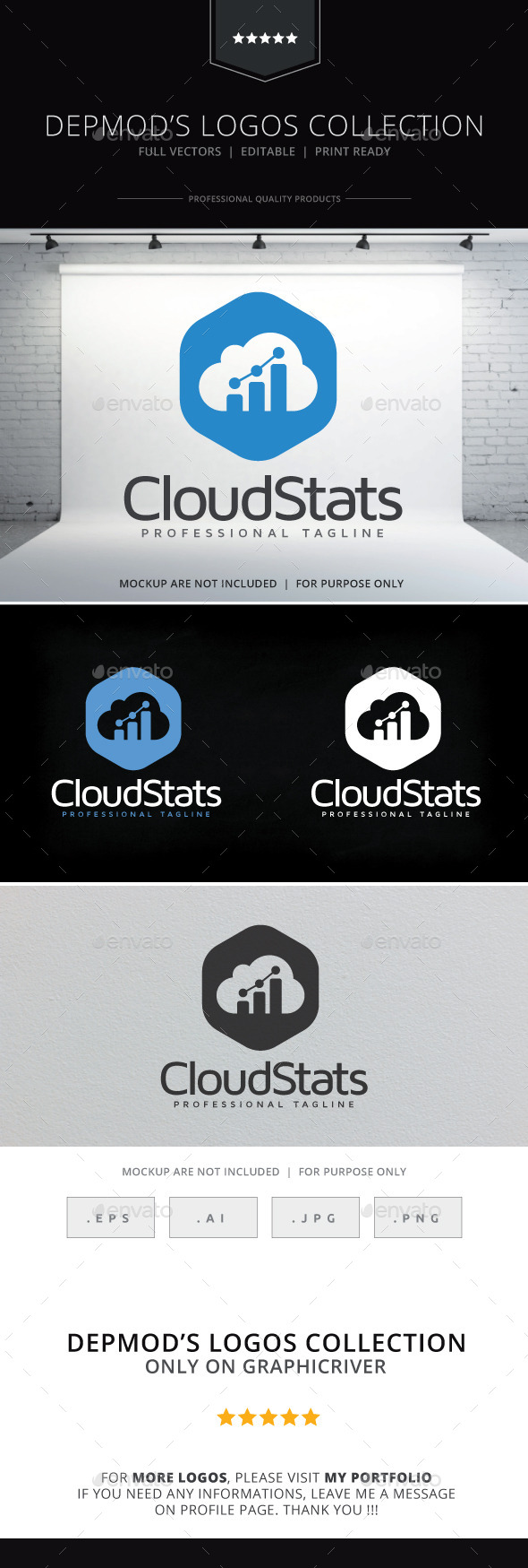 GraphicRiver Cloud Stats Logo 10225788
