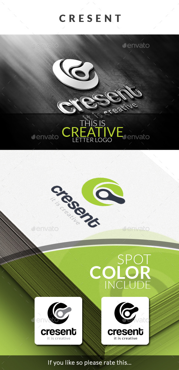 GraphicRiver Cresent Letter Logo Templates 10226188