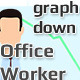 Office Worker - Graph Down - VideoHive Item for Sale