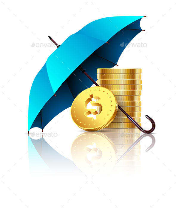 GraphicRiver Umbrella and Money 10226824
