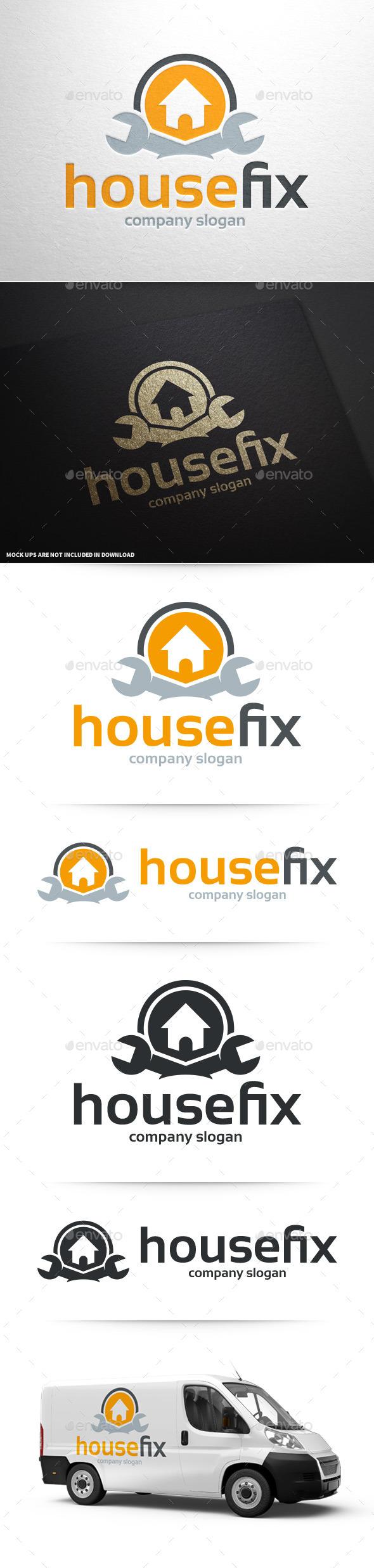 GraphicRiver House Fix Logo Template 10227262