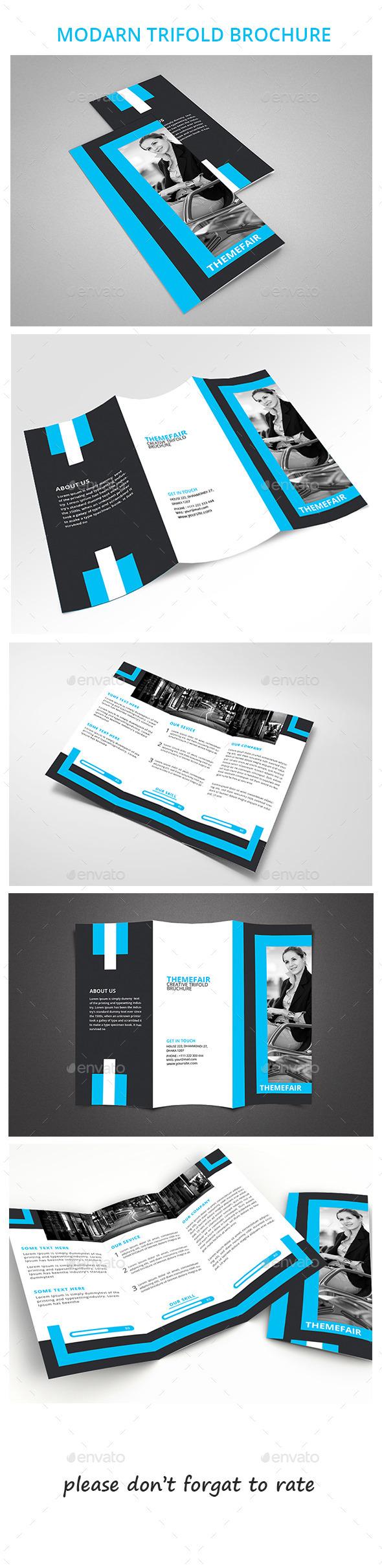 GraphicRiver Mordan Trifold Brochure 10156324