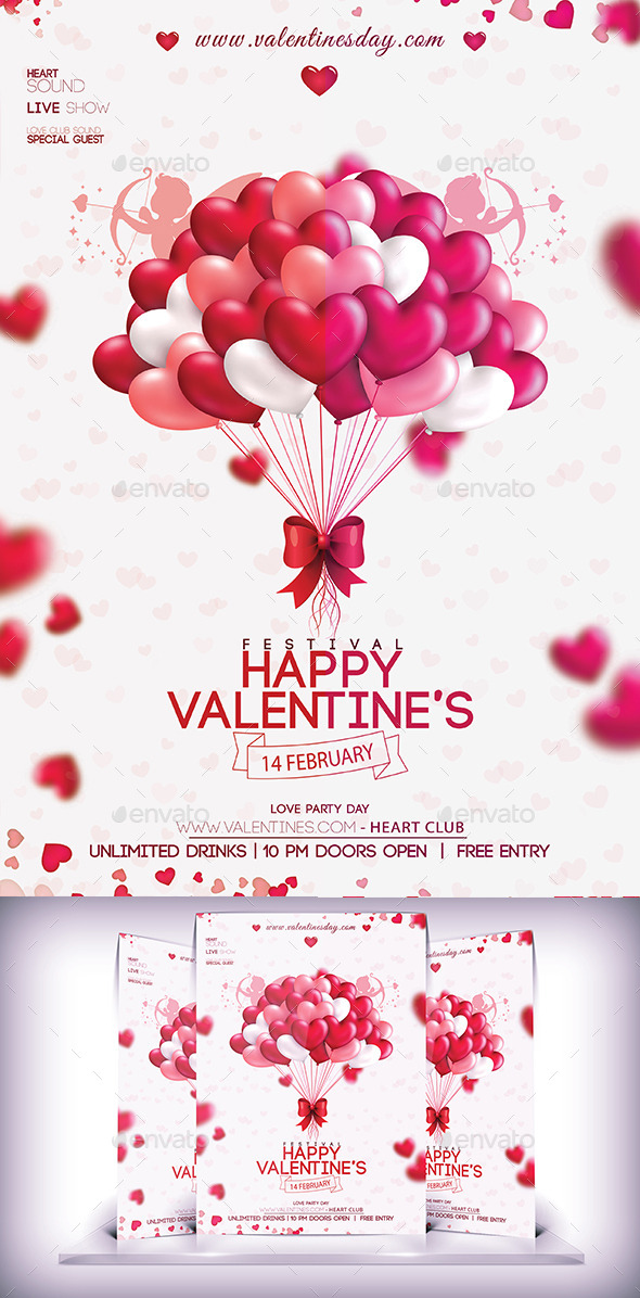 GraphicRiver Valentines Party Day Flyer 10185481