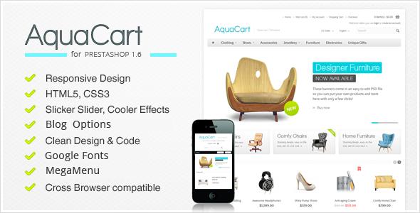 AquaCart - Responsive PrestaShop Theme