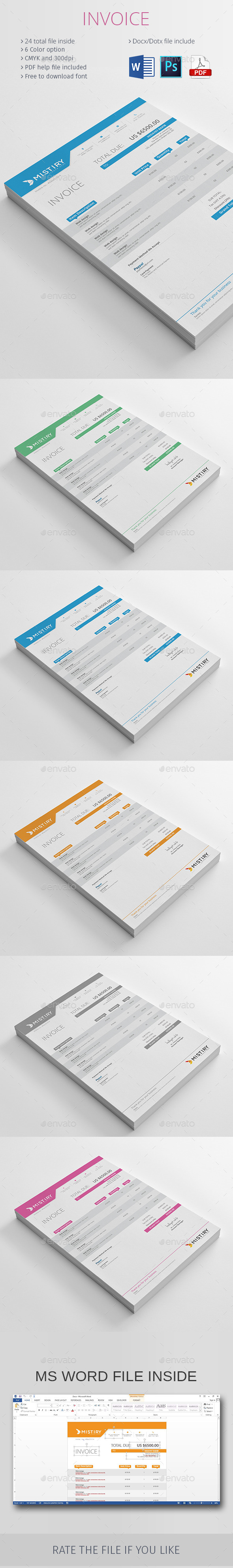 GraphicRiver Invoice 10190610