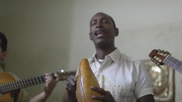 Cuban Band Playing Music Havana Cuba 25