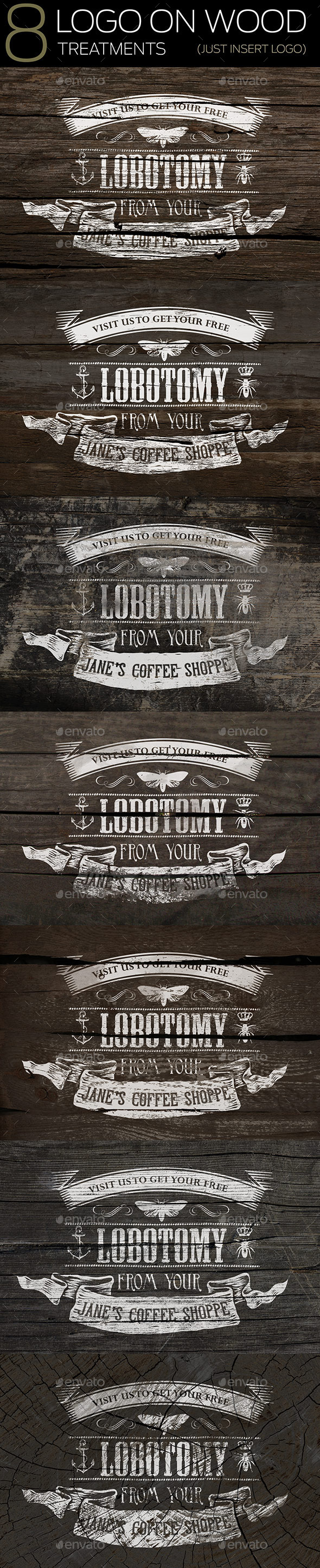 GraphicRiver 8 Logo On Wood Mockups 10228814