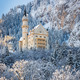 Neuschwanstein Castle in wintery landscape, Germany - PhotoDune Item for Sale