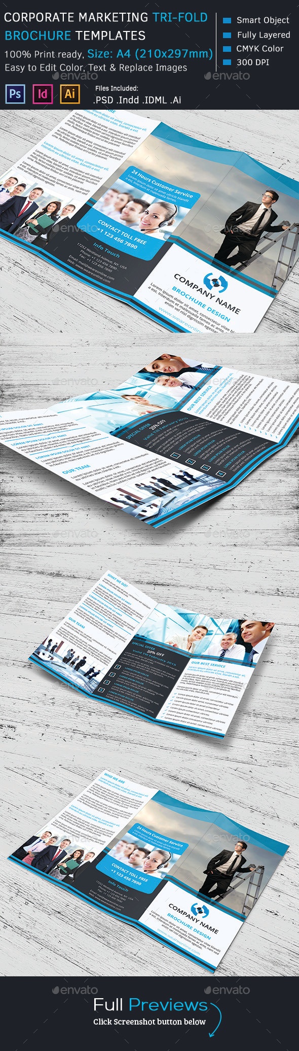 GraphicRiver Corporate Marketing Tri-Fold Brochure 10229062