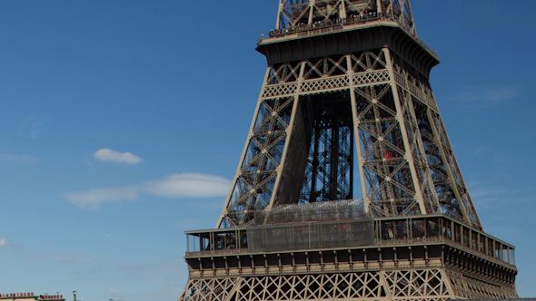 Closeup O The Eiffel Tower In Paris France 8