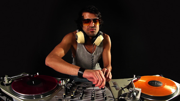 Cool Male Dj Behind The Turntables 3