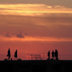 Sunset Shilouette Tourists Pier Mexico 1 - VideoHive Item for Sale