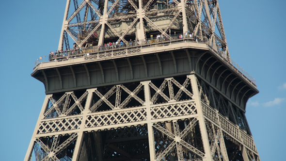 Closeup Of The Eiffel Tower In Paris France 2
