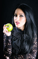 Attractive Woman Holding Green Apple - PhotoDune Item for Sale