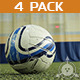 Football - Ball Crossing a Field - 4 pack - VideoHive Item for Sale