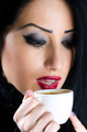Attractive Woman With Coffee Cup - PhotoDune Item for Sale