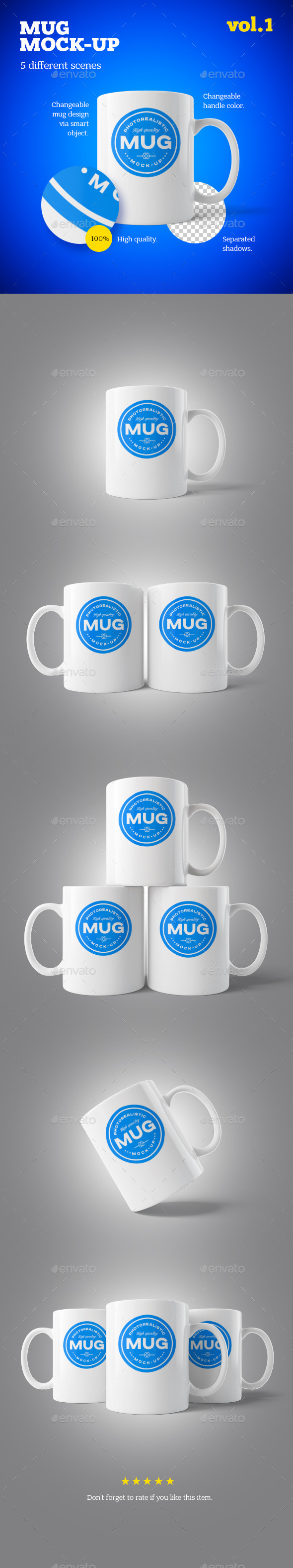 GraphicRiver Mug Mock-up Vol.1 10230167