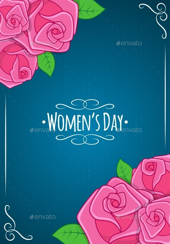 GraphicRiver Eight 8 of March Women s Day Background 10230194