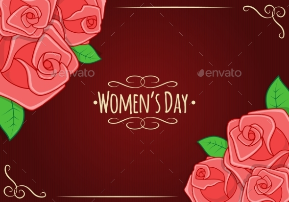 GraphicRiver Eight 8 of March Women s Day Background 10230198